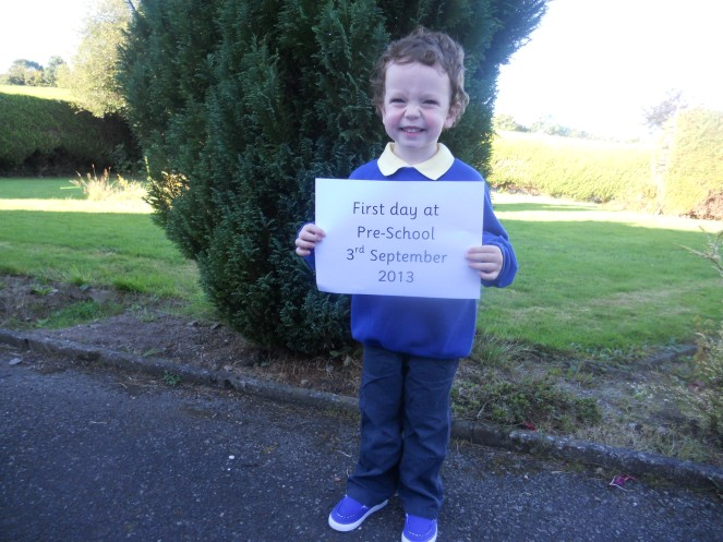 My boy started pre school.