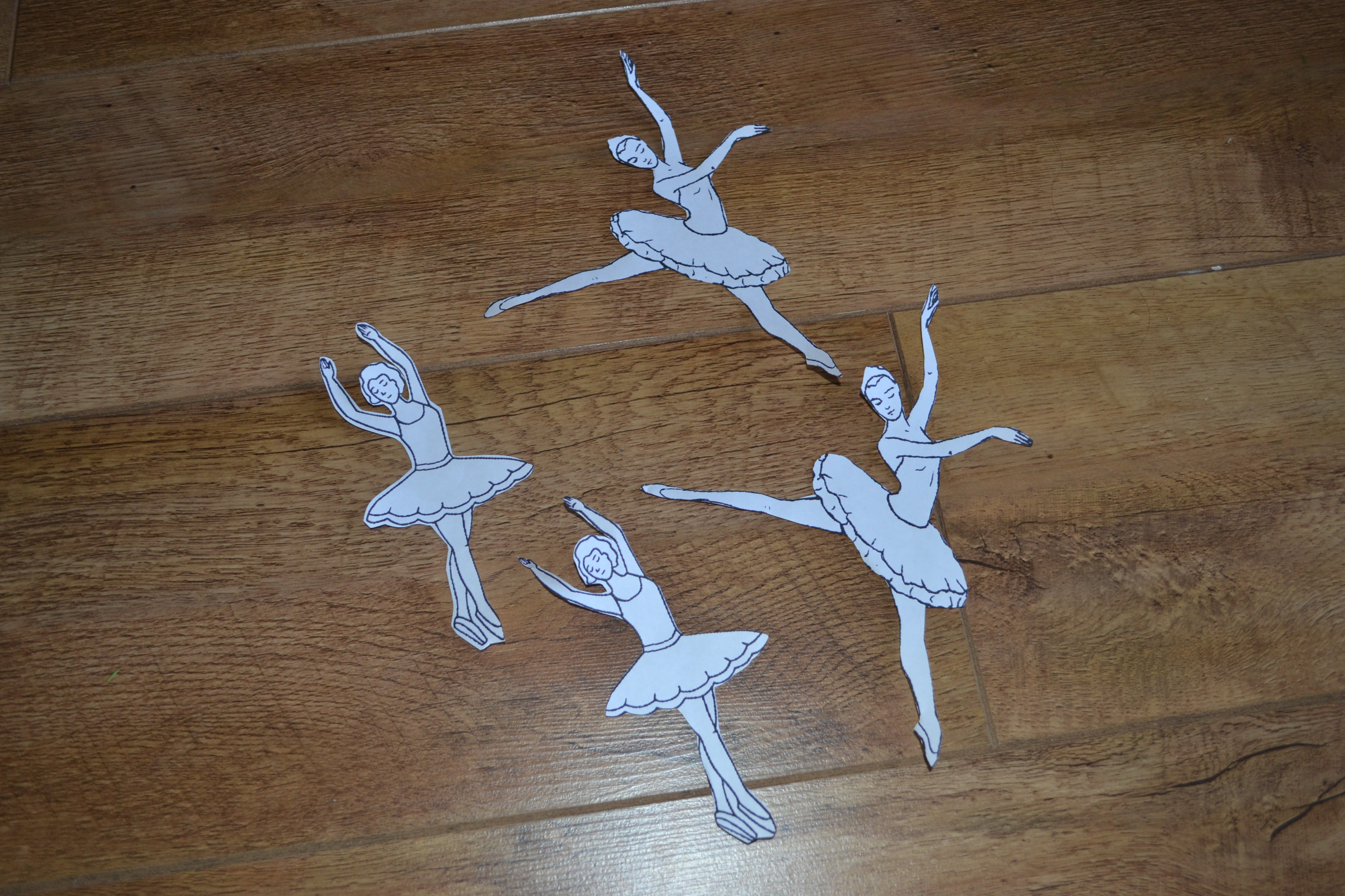 snowflake ballerina cut out template www